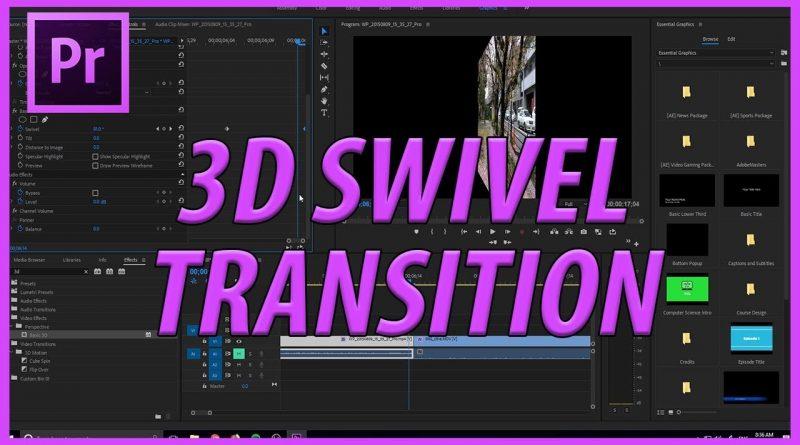 Tạo hiệu ứng xoay tròn cho đối tượng trong Adobe Premiere